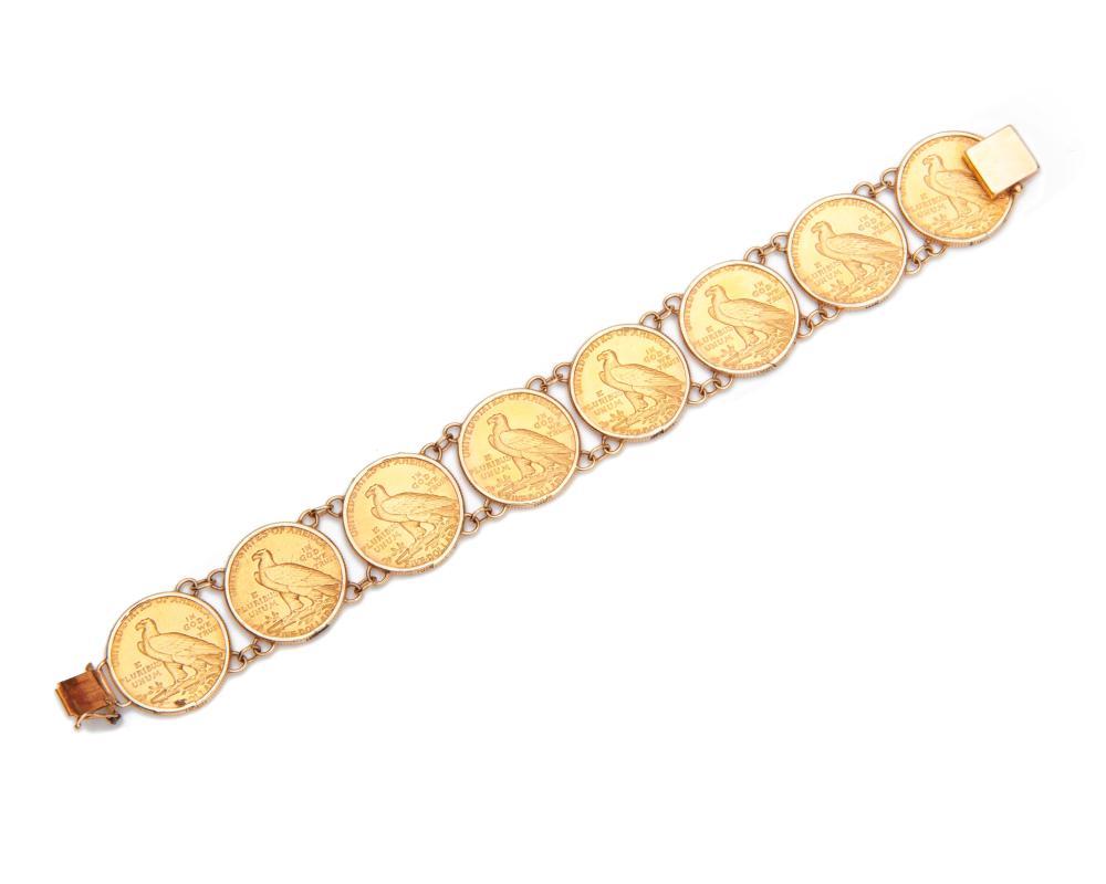 American Liberty Gold Coin Bracelet