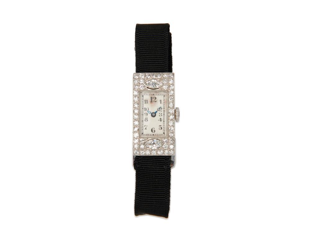 14K Gold and Diamond Wristwatch