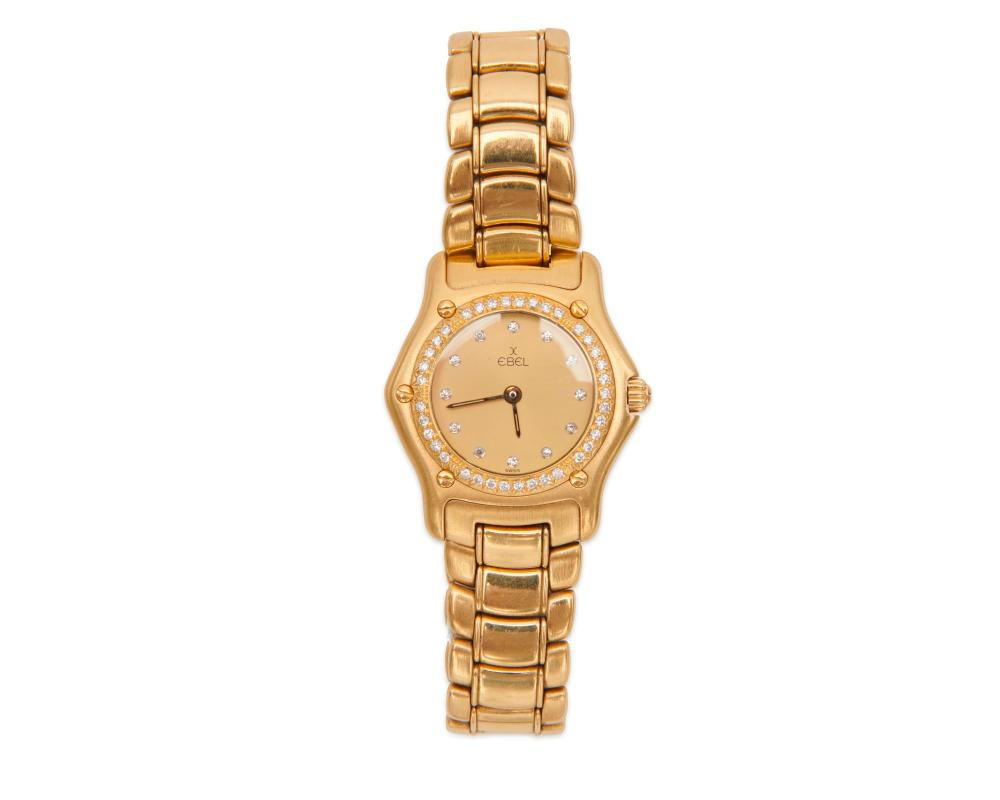 "EBEL 18K Gold and Diamond ""1911"" Wristwatch"