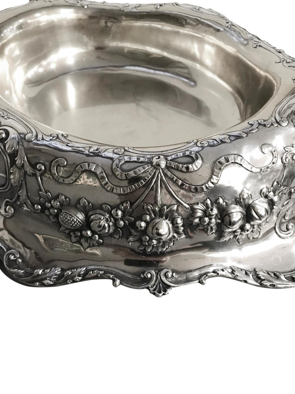 GORHAM Silver Oval Footed Center Bowl, ca. 1875