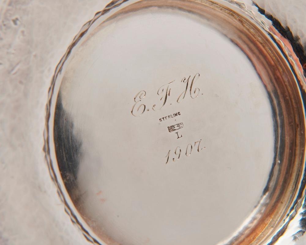 THE HANDICRAFT SHOP BOSTON Silver Bowl and Underplate, possibly Karl F. Leinonen