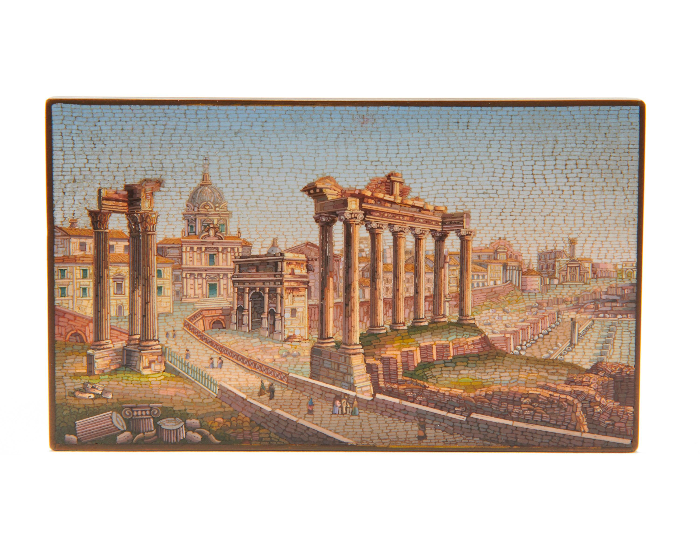 Fine Micromosaic Plaque of the Roman Forum