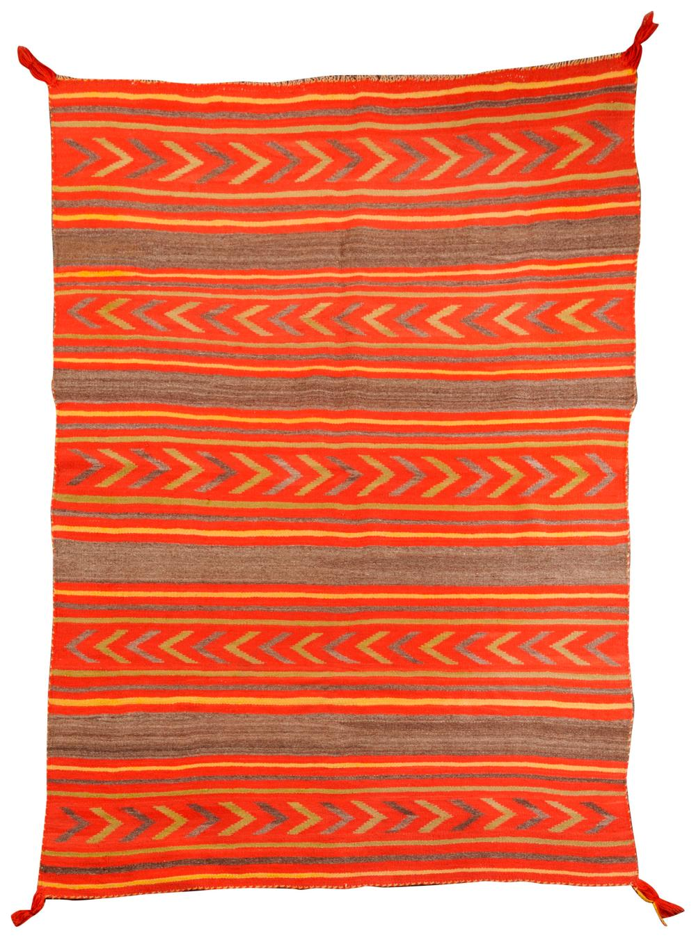 Transitional Navajo Wearing Blanket; 5 ft. 3 in. x 3 ft. 10 in.