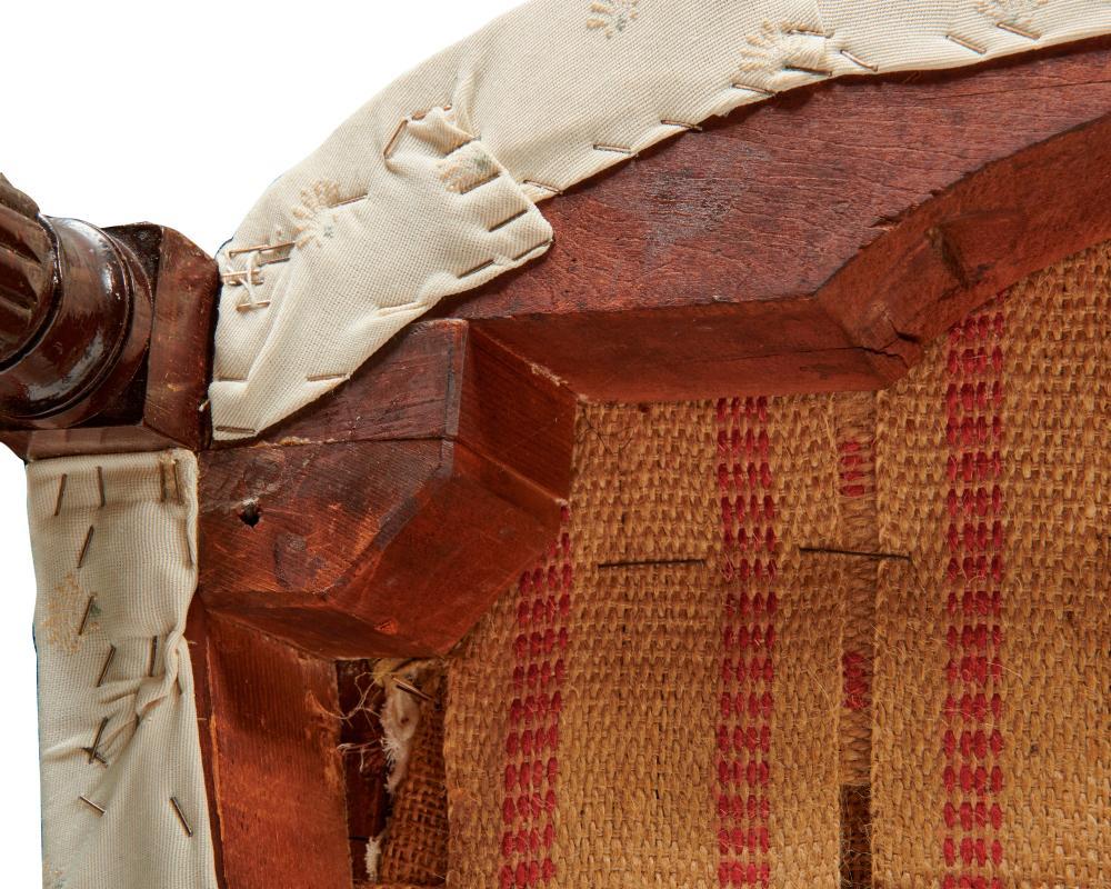 Sheraton Mahogany Cabriole Form Sofa, New York, ca. 1800-1810