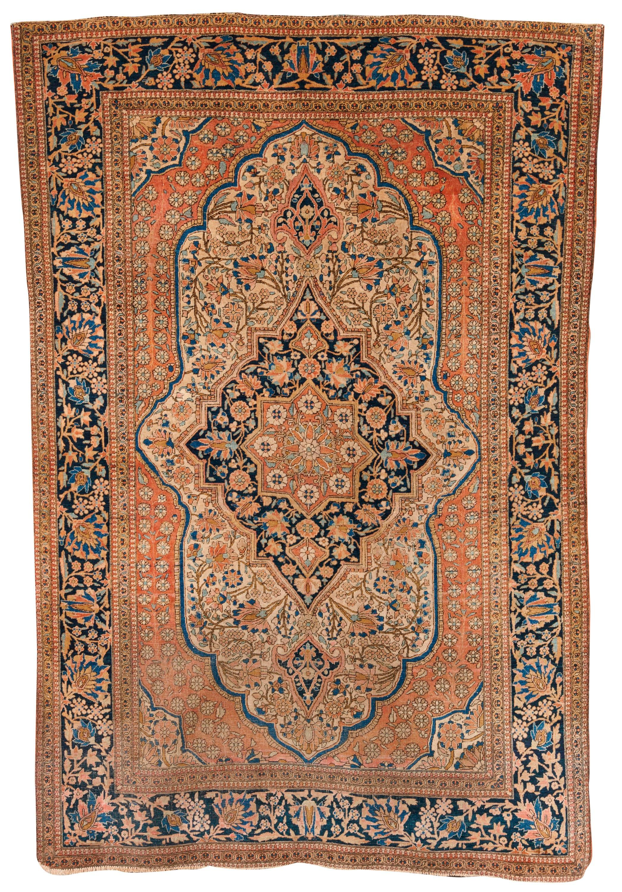 Mohtasham Kashan, Persia, ca. 1880; 6 ft. 8 in. x 4 ft. 5 in.