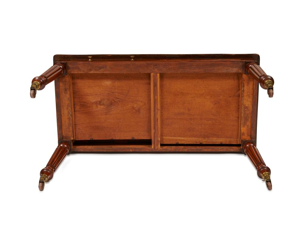 William IV Leather Top Two Drawer Mahogany Writing Table