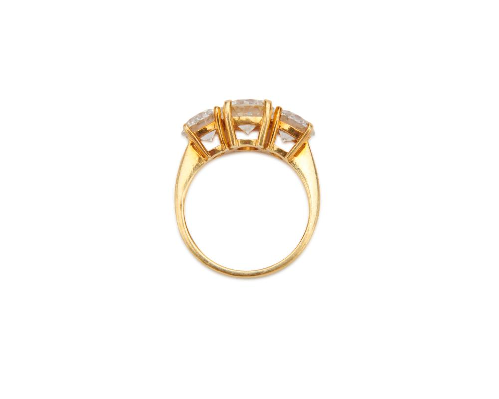 18K Gold and Diamond Ring