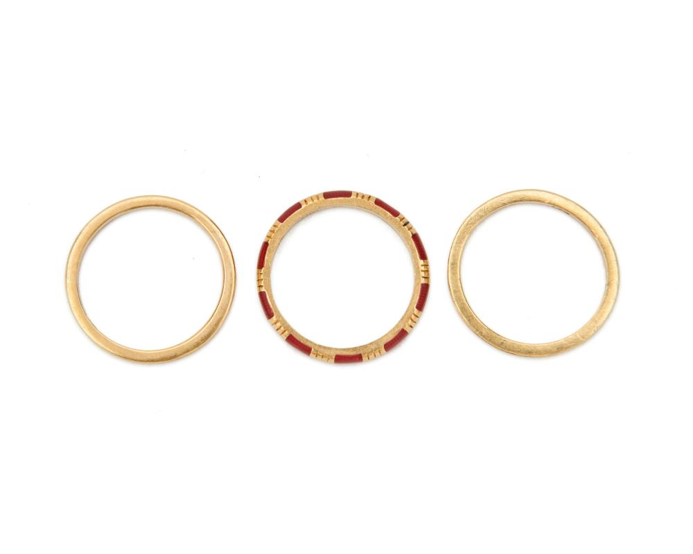 HIDALGO 18K Gold, Enamel, and Diamond Rings