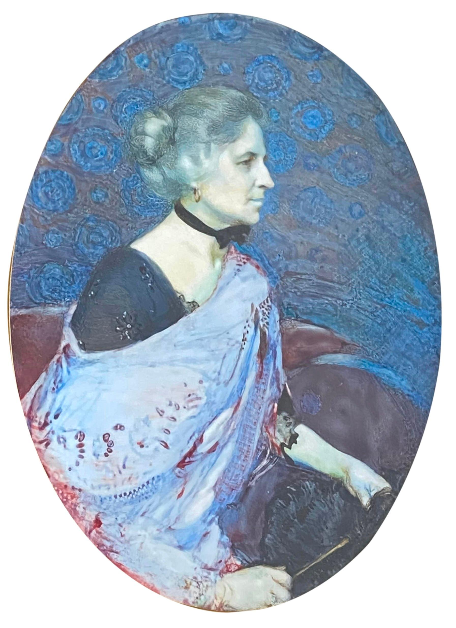 LAURA COOMBS HILLS, (American, 1859-1952), Mrs. George W. Chadwick, 1914, watercolor, 5 1/2 x 4 in., frame: 8 x 6 1/2 in.