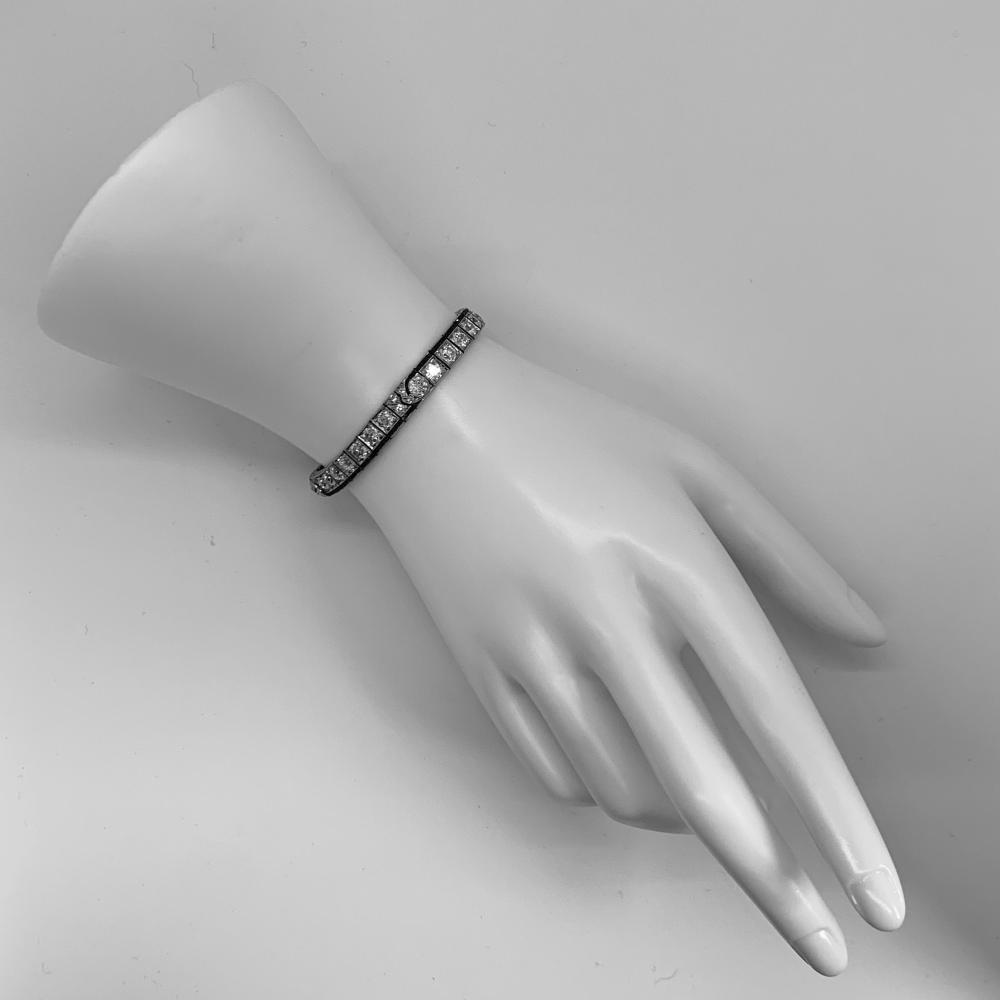 Platinum, Diamond, and Ruby Bracelet