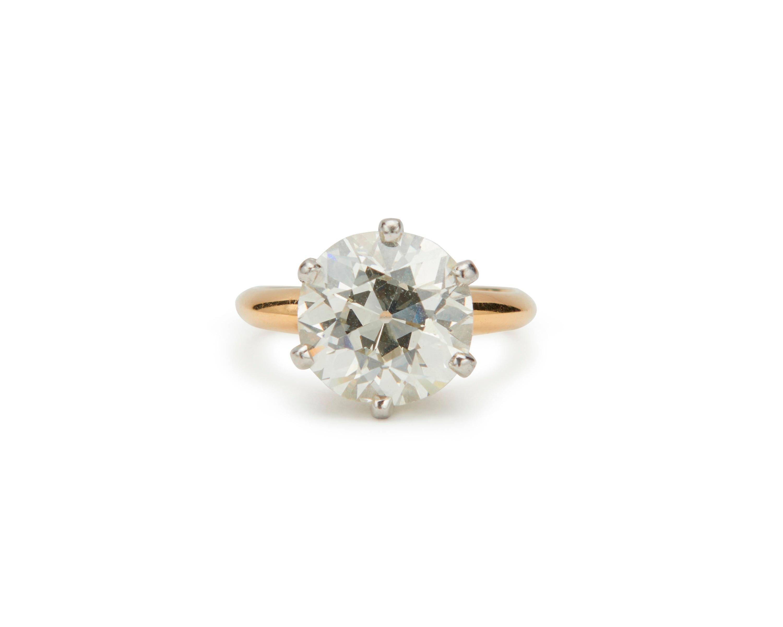 18K Gold, Platinum, and Diamond Ring