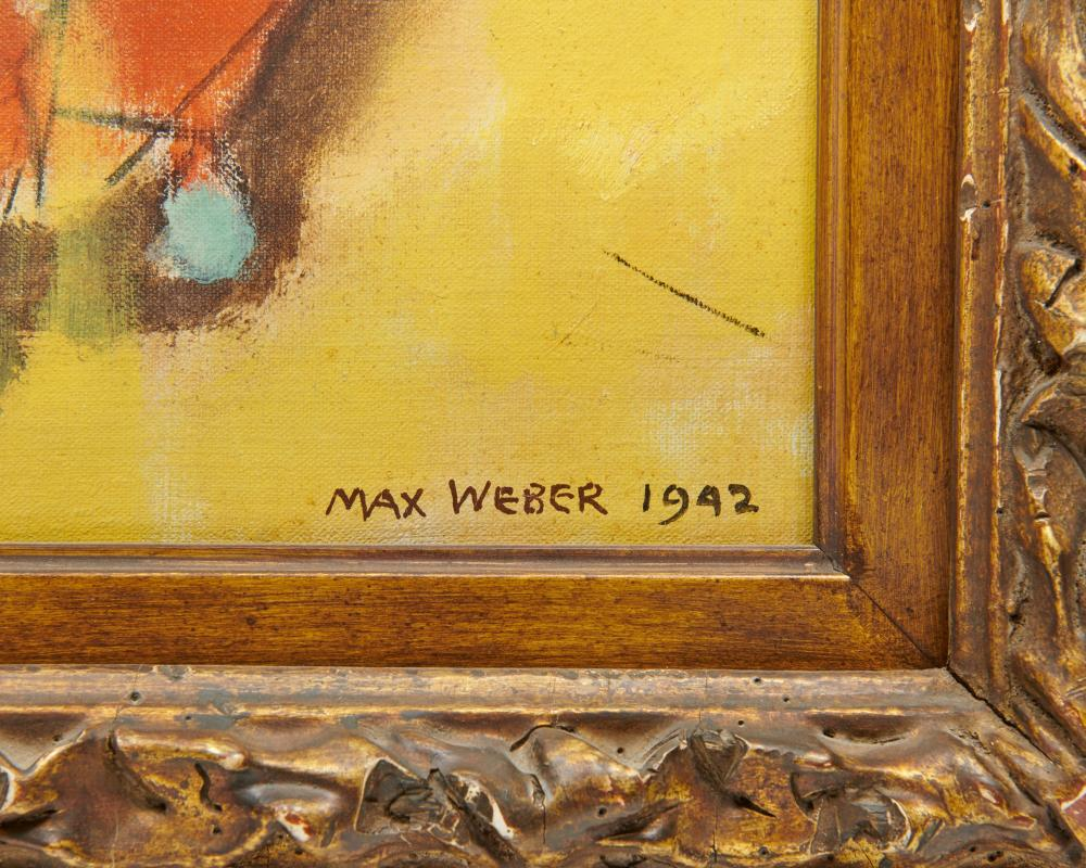 MAX WEBER, (American, 1881-1961), Beautification, 1942, oil on canvas, 36 x 28 in., frame: 45 1/2 x 37 3/4 in.
