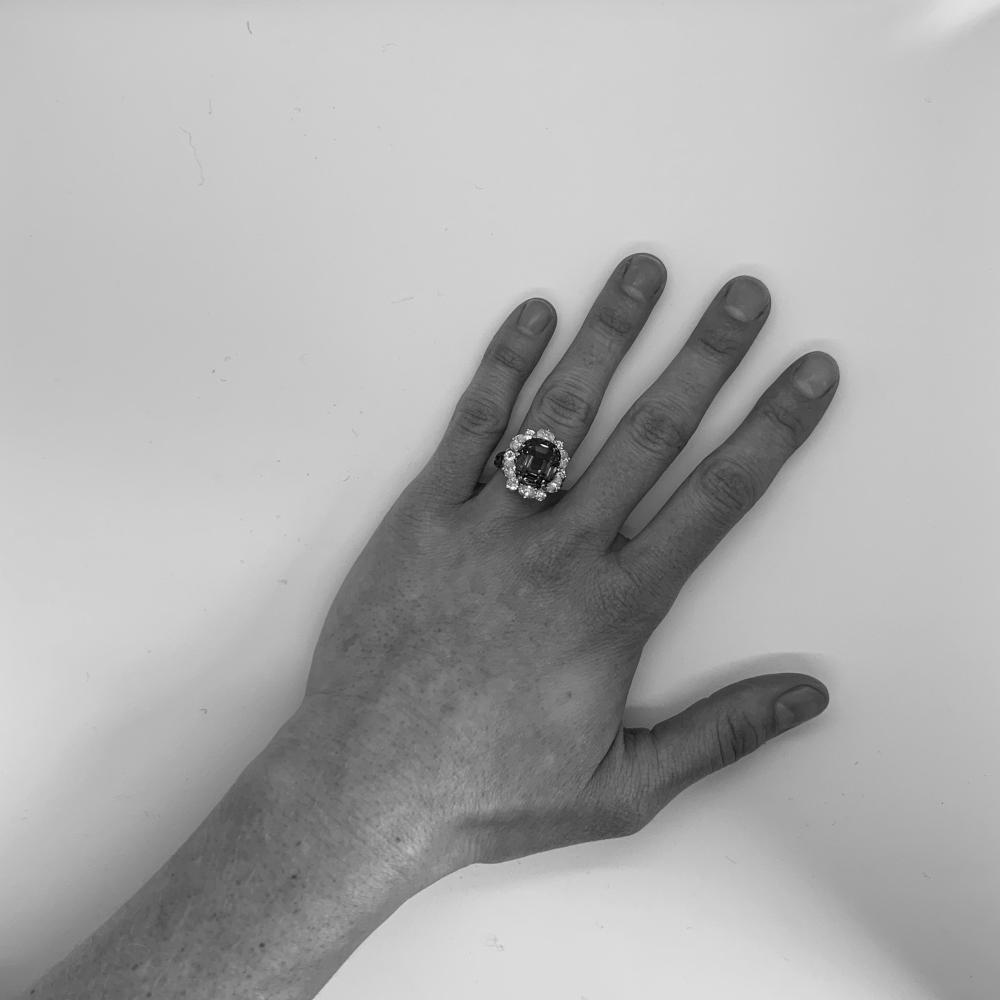 CARTIER Platinum, 18K Gold, Tanzanite, and Diamond Ring