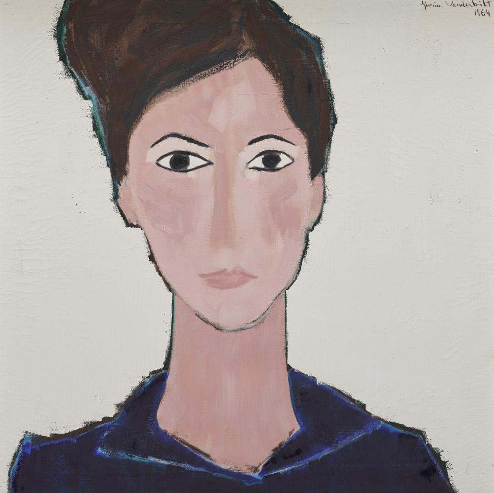 GLORIA VANDERBILT, (American, 1924-2019), Gerta, 1964, oil on canvas, 30 x 30 in., House of Heydenryk frame: 41 x 41 in.