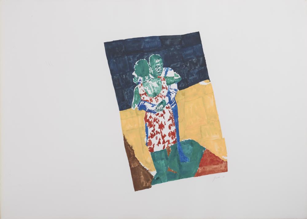 RICHARD YARDE, (American, 1939-2011), Savoy Dancers, 1983, watercolor, sheet: 29 x 40 1/2 in., frame: 31 1/2 x 43 1/4 in.