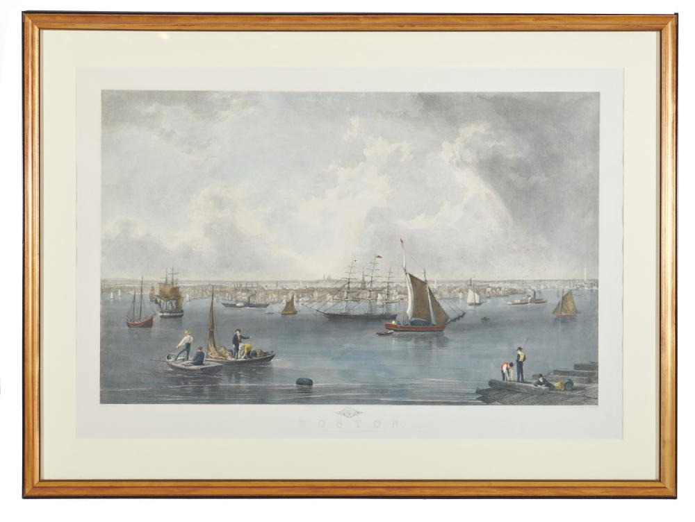 Boston, engraved by C. Mottram after the watercolor by J.W. Hill
