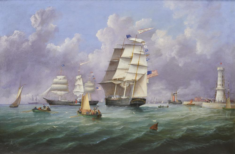 AMERICAN SCHOOL , (19 century), The Emily Augusta, oil on canvas, 24 x 26 in., frame: 29 1/2 x 41 1/2 in.