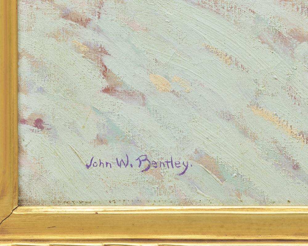 JOHN W. BENTLEY, (American, 1880-1951), Winter in Highbridge , oil on canvas, 25 x 30 in., frame: 34 1/2 x 39 1/2 in.