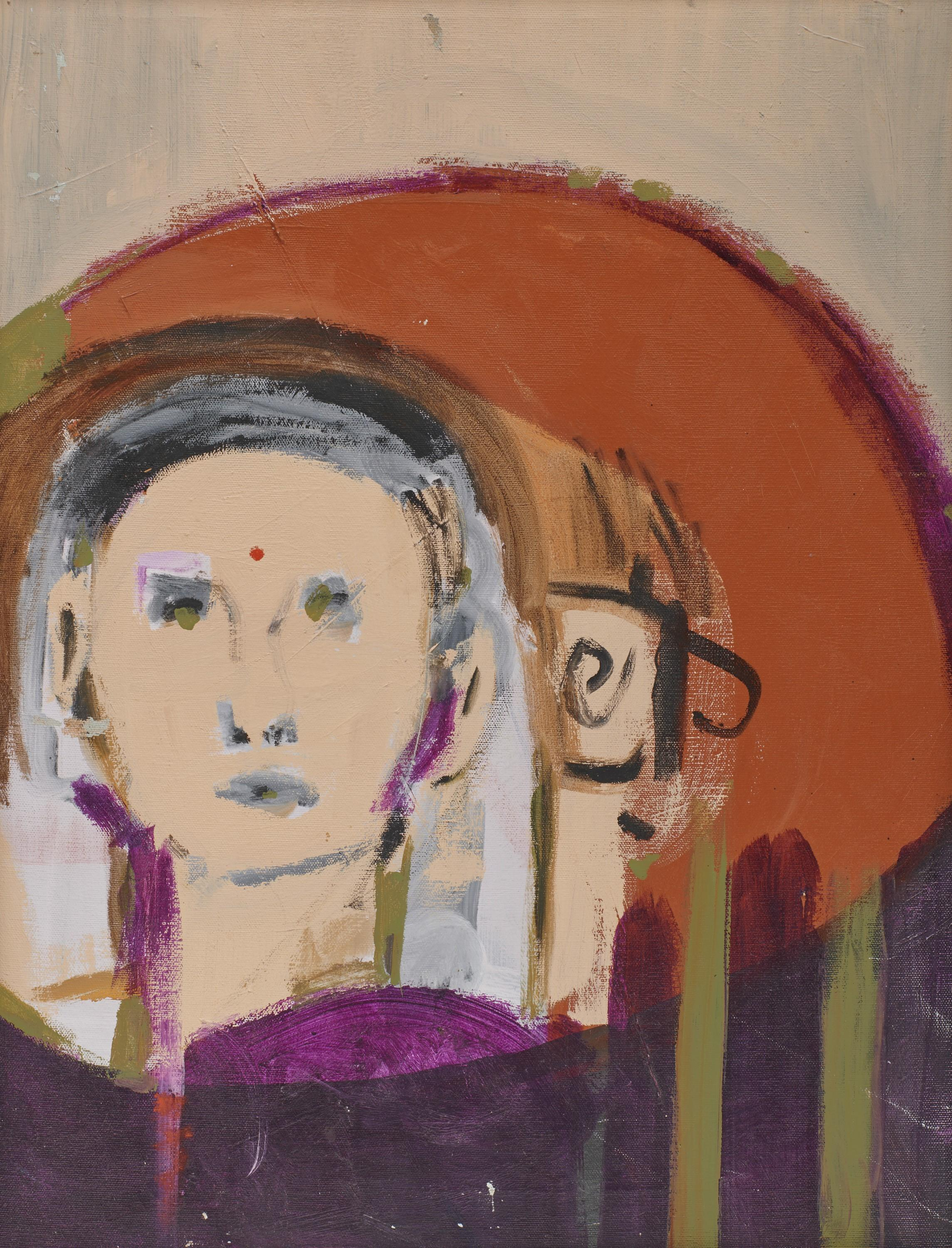 WILLIAM THEOPHILUS BROWN, (American, 1919-2012), Bindi, 1968, oil on canvas, 24 x 18 in., frame: 25 x 19 in.