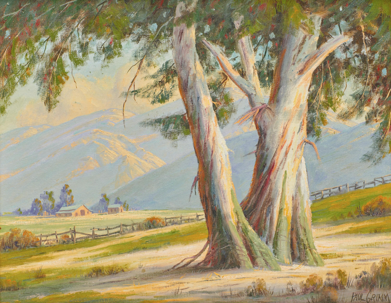 PAUL GRIMM, (American, 1891-1974), Graceful Eucalyptus, 1964, oil on canvasboard, 16 x 20 in., frame: 23 1/2 x 27 1/2 in.
