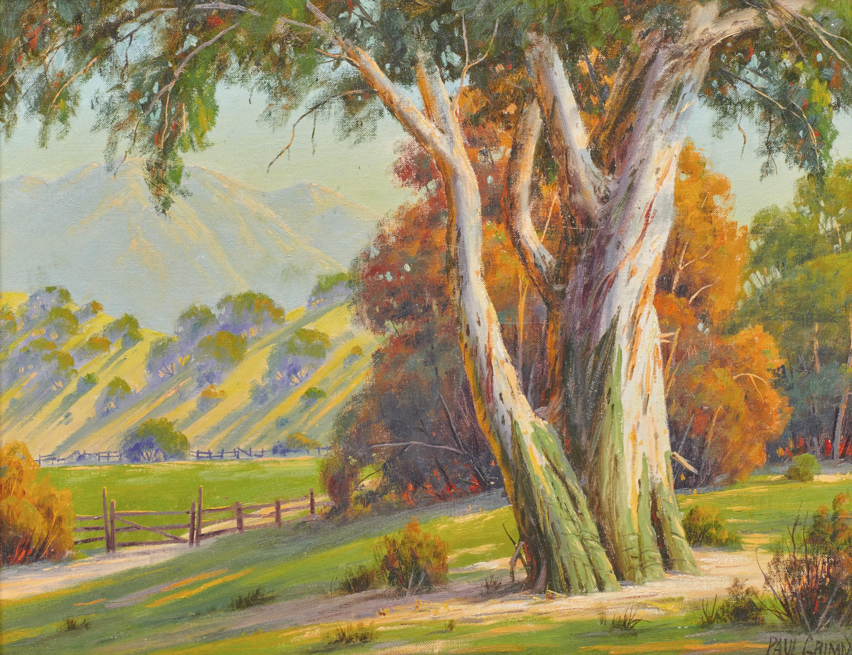 PAUL GRIMM, (American, 1891-1974), California Vista, 1963, oil on canvasboard, 16 x 20 in., frame: 25 x 29 in.