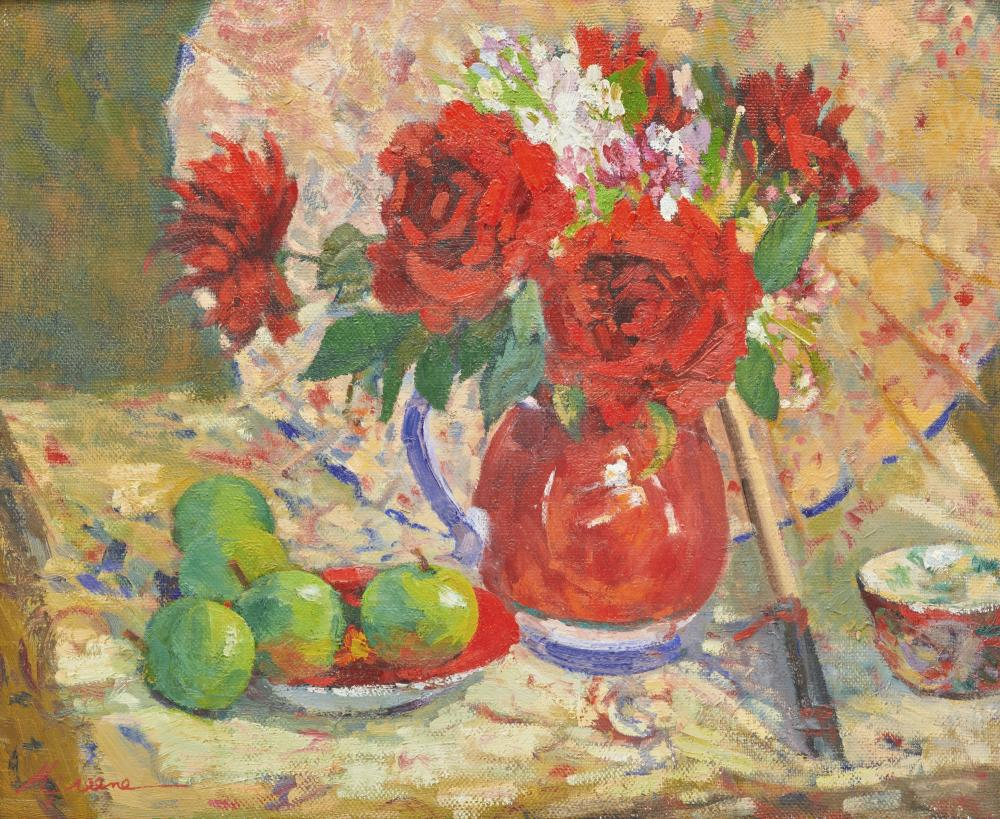 MILLIE GREENE, (American, 20th/21st century), Floral Still Life, oil on canvas, 20 x 24 in., 24 1/2 x 28 1/2 in.