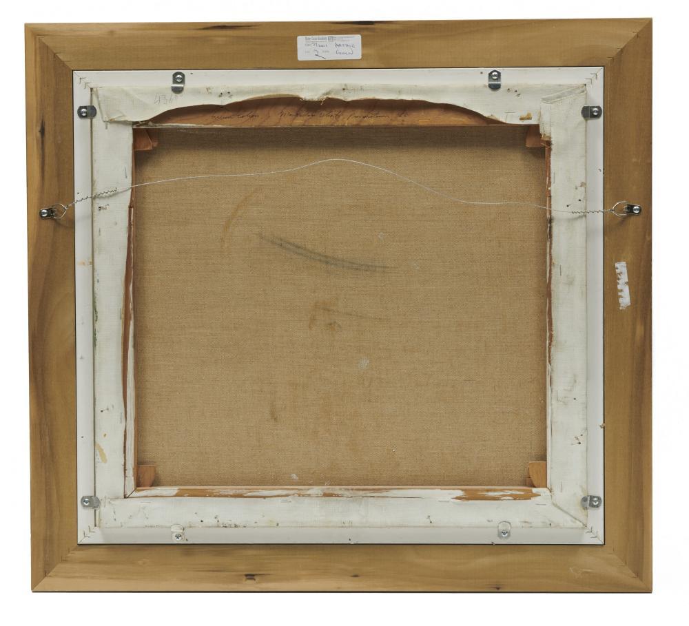ARTHUR MORRIS COHEN, (American, 1928-2012), McMillan Wharf, 1987, oil on canvas, 18 x 20 in., frame: 24 x 26 in.
