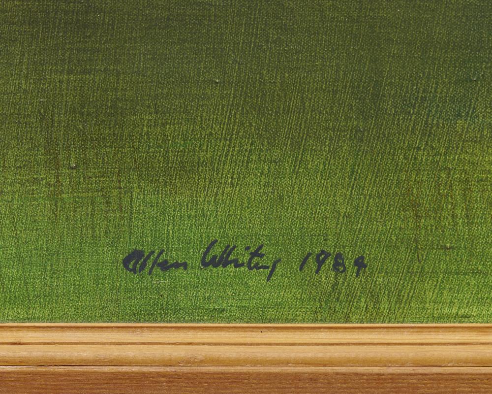 ALLEN WHITING, (American, b. 1946), In Flight, 1984, oil on linen, 45 x 70 in., frame: 47 x 72 in.