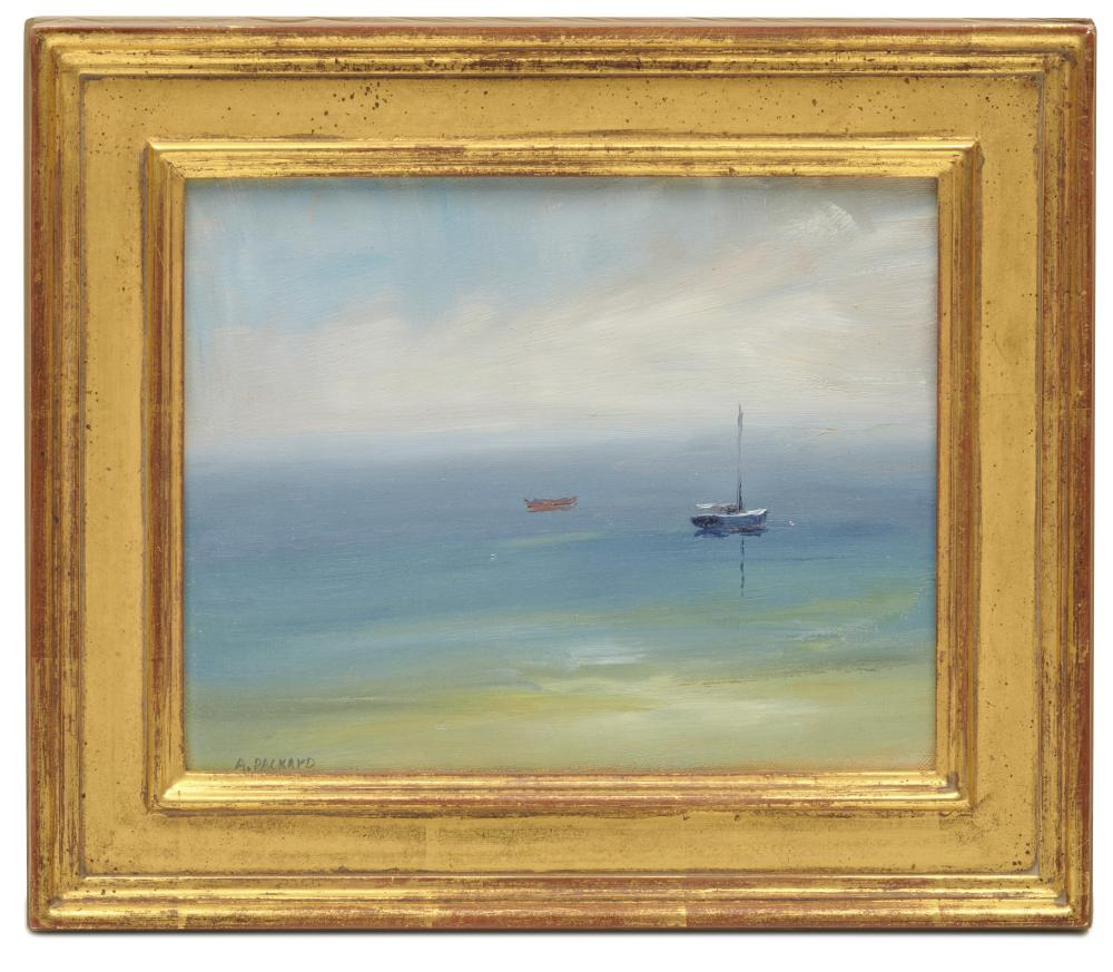 ANNE PACKARD, (American, b. 1933), Island Retreat, 1996, oil on canvas, 8 x 10 in., frame: 11 1/2 x 13 1/2 in.