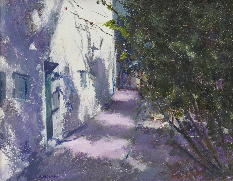 ANNE PACKARD, (American, b. 1933), Sunlit Doorway, oil on board, 8 x 10 in., frame: 10 3/4 x 12 3/4 in.