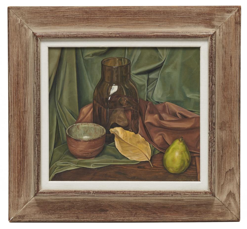 LUIGI LUCIONI, (American, 1900-1988), Greens and Brown, 1964, oil on canvas, 16 x 18 in., frame: 25 1/2 x 27 1/2 in.