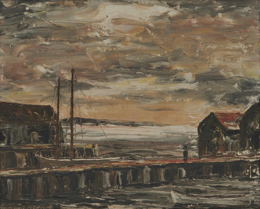 HEINRICH PFEIFFER, (American, 1874-1960), Morning in Provincetown, oil on canvasboard, 10 x 12 in., frame: 14 1/2 x 16 1/2 in.
