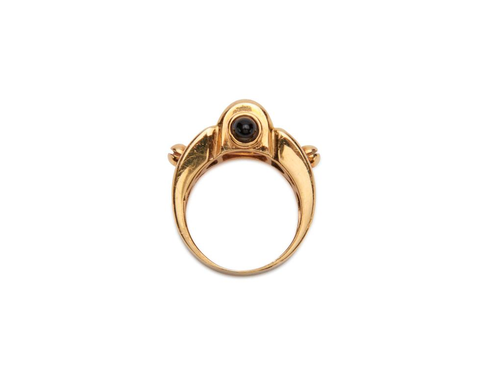 ROBERT WANDER 18K Gold, Onyx, and Citrine Ring