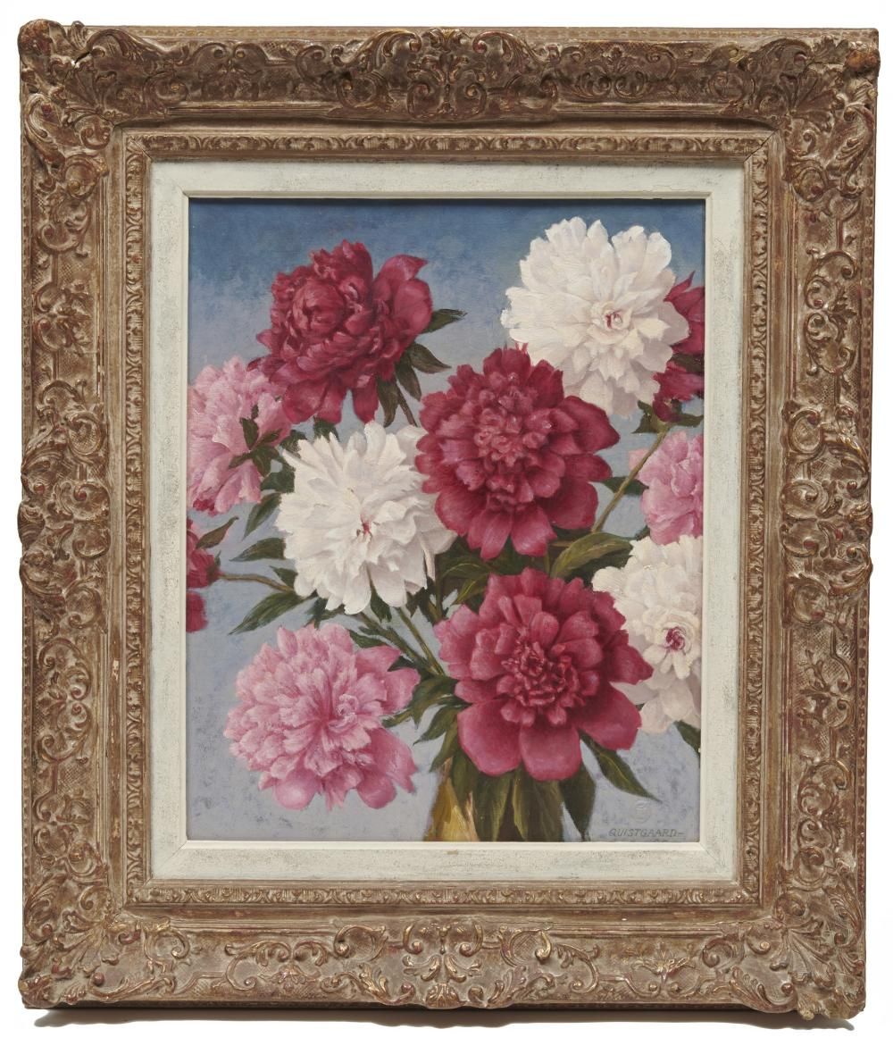 JOHANN WALDEMAR de REHLING QUISTGAARD, (American, 1877-1962), A Bit of Cheer, oil on board, 22 1/2 x 18 1/2 in., frame: 29 1/3 x 25 1/2 in.