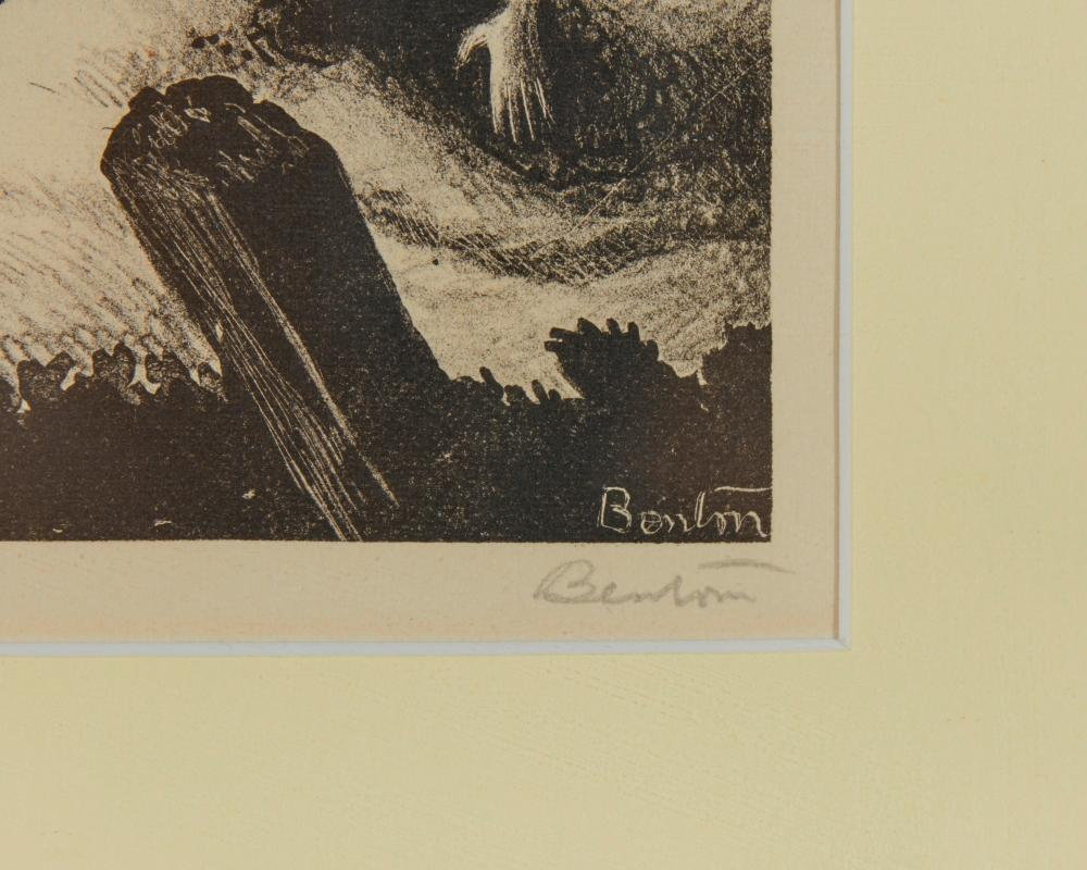THOMAS HART BENTON, (American, 1889-1975), Wreck of the Old ''97, lithograph, plate: 10 1/4 x 14 7/8 in., frame: 16 3/4 x 20 3/4 in.
