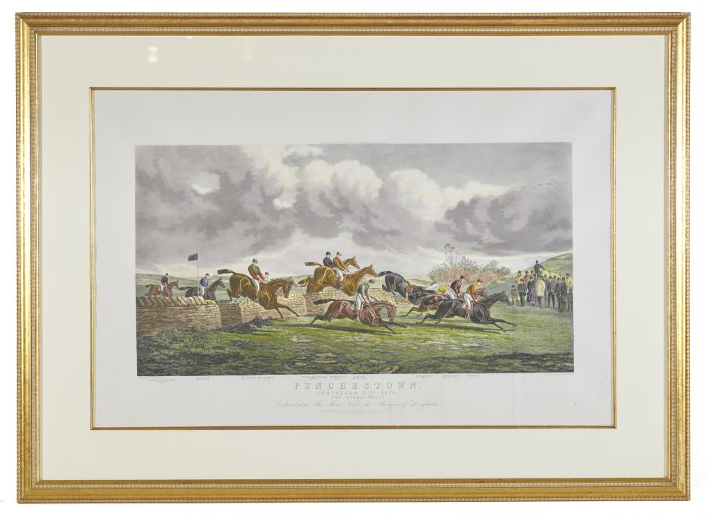 Three Colored Prints of English Sporting Scenes