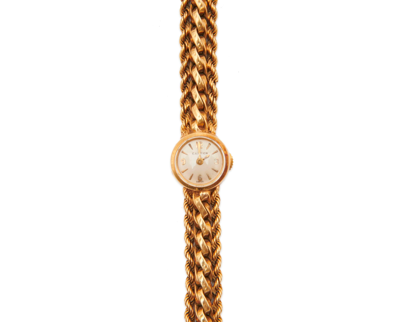 CARTIER 18K Gold Wristwatch