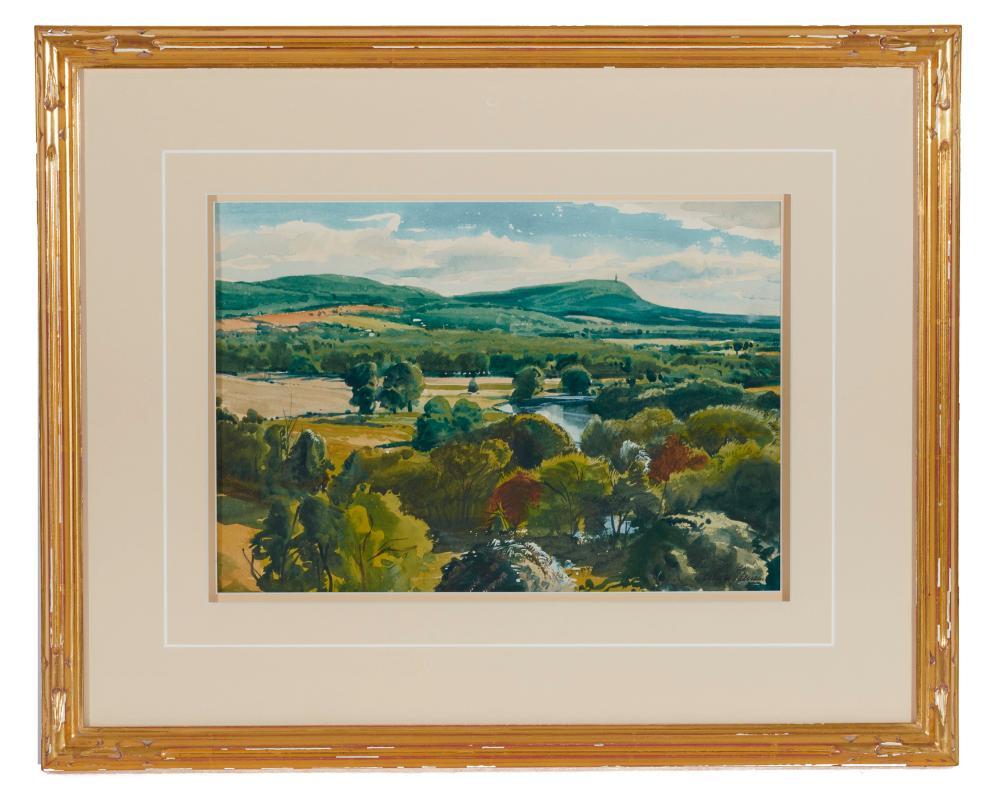 OGDEN MINTON PLEISSNER, (American, 1905-1983), Summer Landscape, watercolor, sight: 9 x 13 in., frame: 17 x 21 in.