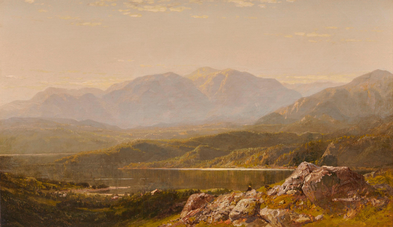 JOHN BUNYAN BRISTOL, (American, 1826-1909), Mountain Landscape, oil on canvas, 18 x 30 in., frame: 32 x 44 in.