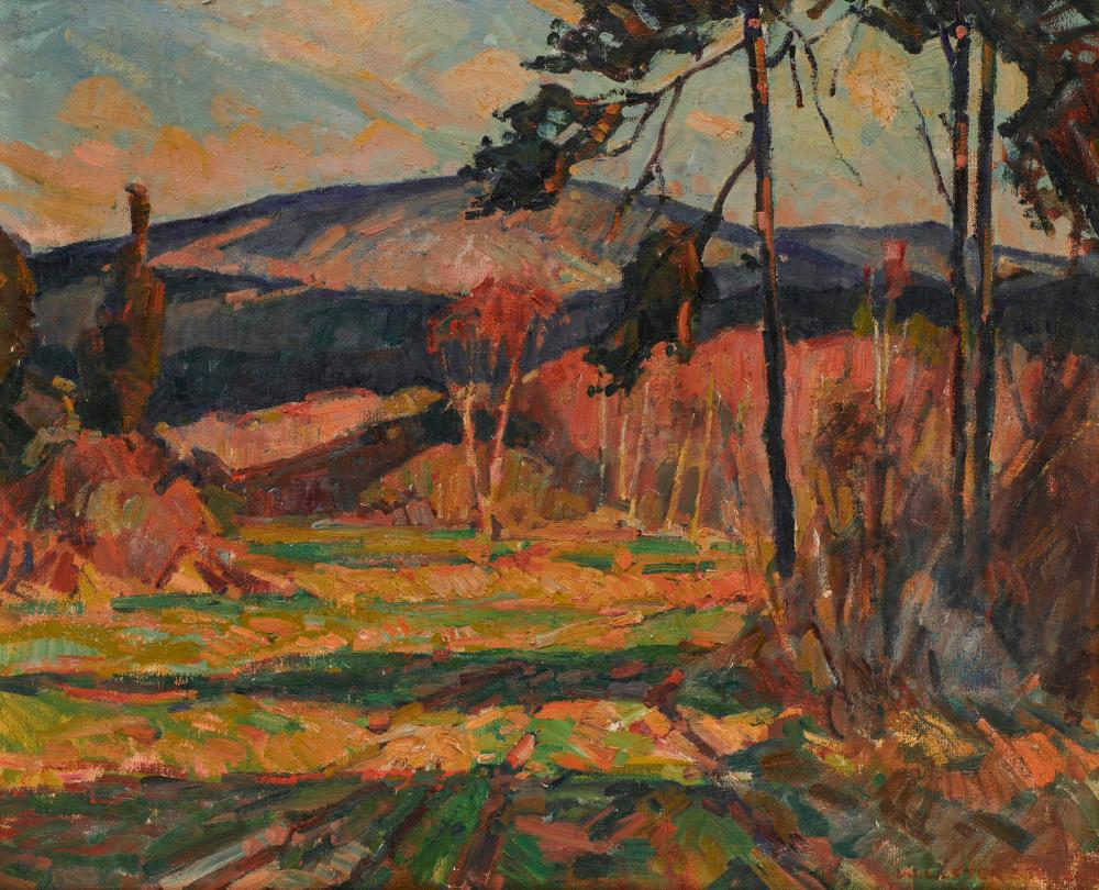 WILLIAM LESTER STEVENS, (American, 1888-1969), Great Blue Hill, Milton, MA, oil on canvas, 20 x 24 in., frame: 27 x 31 in.