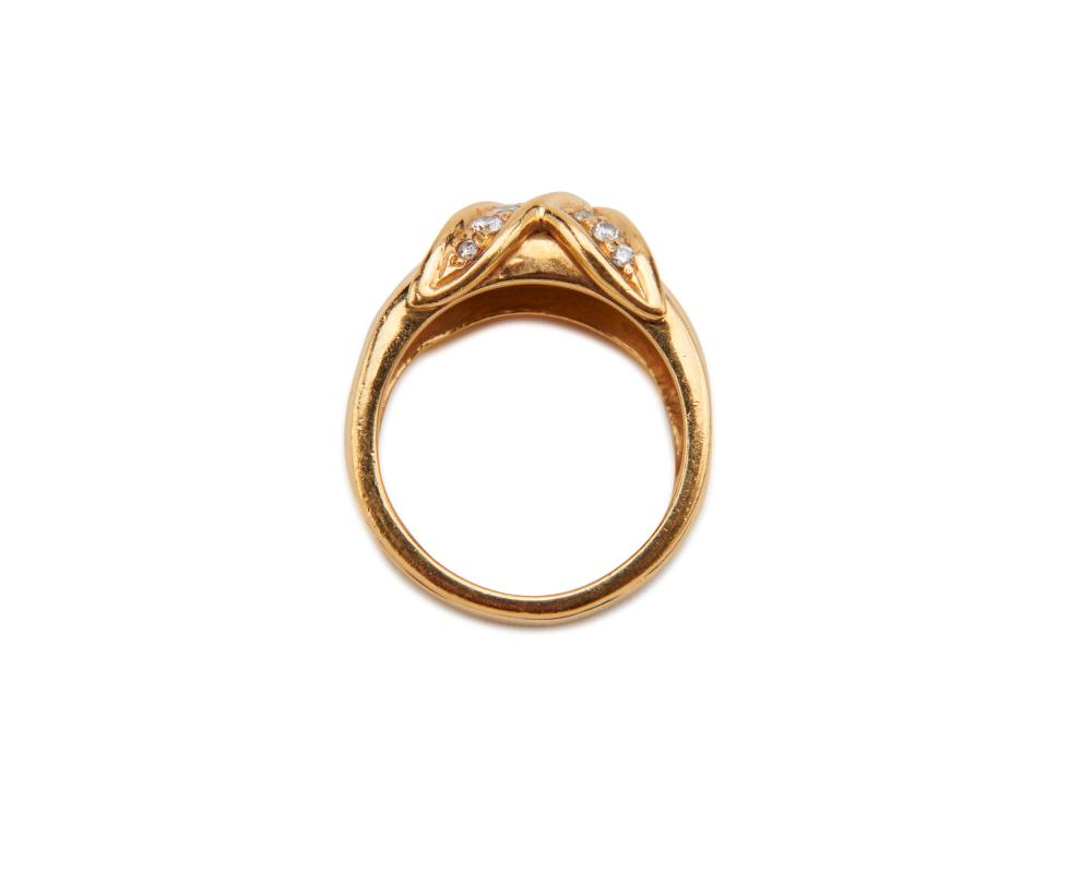 TIFFANY & CO. 18K Gold and Diamond Ring
