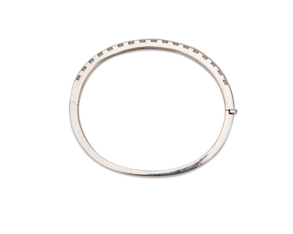 18K Gold and Diamond Bangle Bracelet