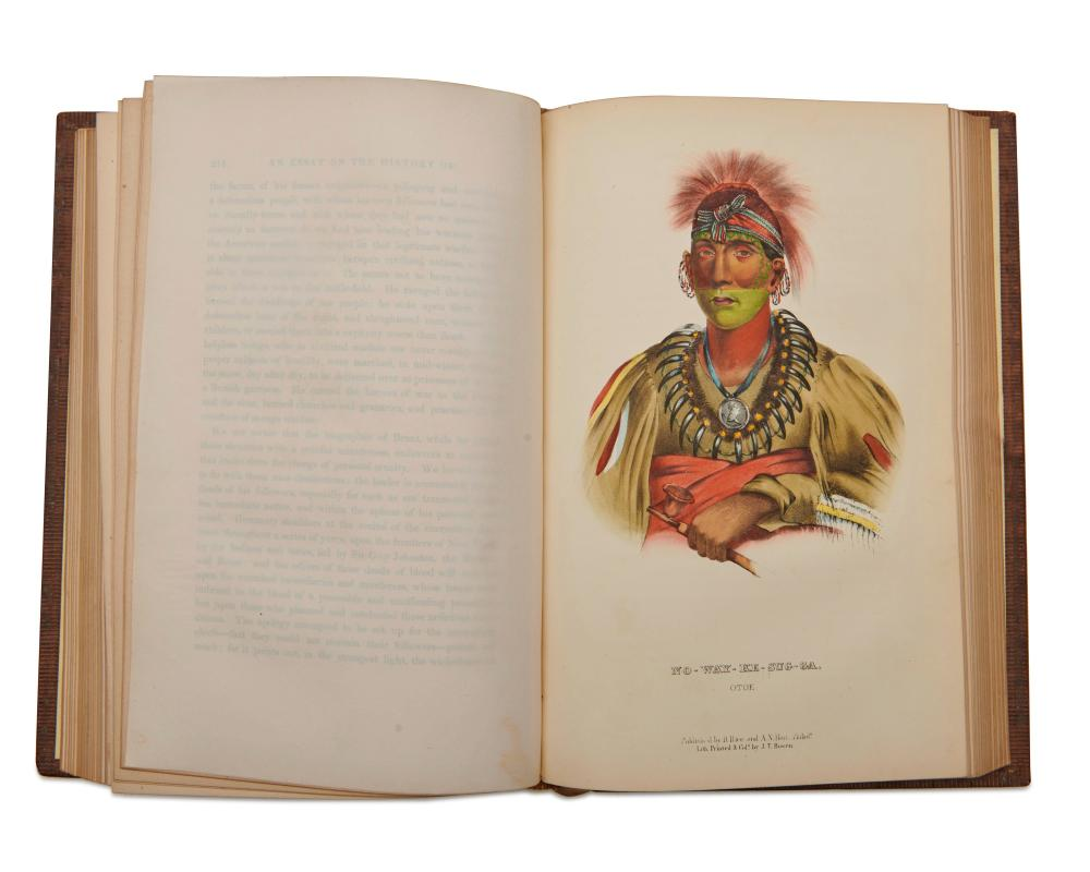 McKenney, Thomas L. (1785-1859) and James Hall (1793-1868). History of the Indian Tribes of North America...Philadelphia: published by D. Rice & A.N. Hart, 1855.