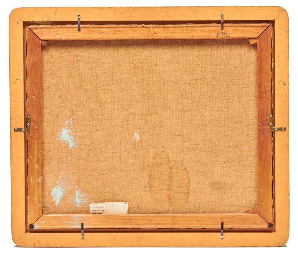 DANA BARTLETT, (American, 1882-1957), California Hills, oil on canvas, 25 x 30 in., frame: 29 1/2 x 34 1/2 in.