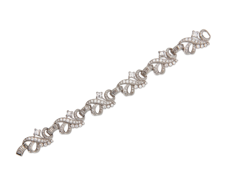 WASLIKOFF & SONS Platinum and Diamond Bracelet