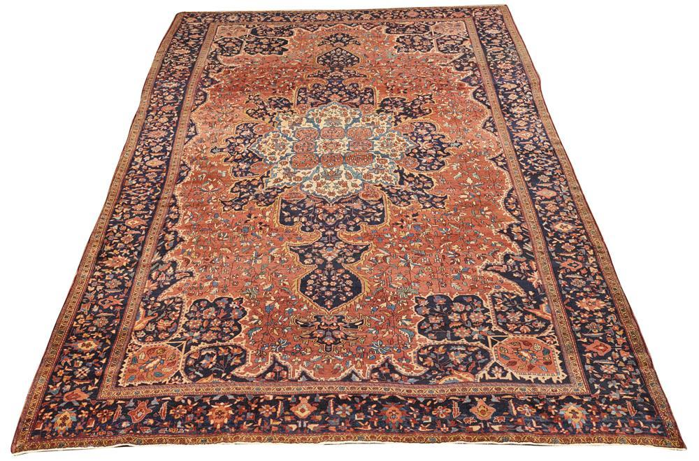 Sarouk Fereghan Carpet, Persia, ca. 1900; 12 ft. 4 in. x 8 ft. 4 in.