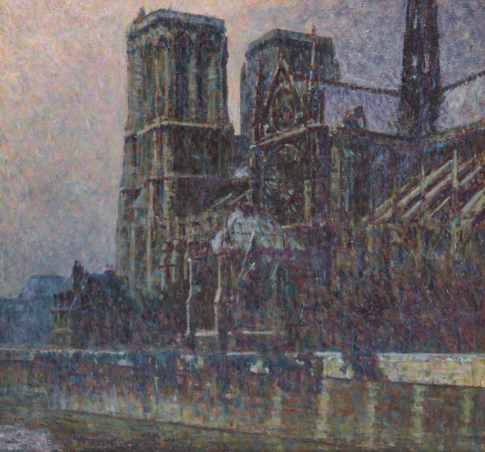 CAMERON BURNSIDE, (American, 1887-1952), Notre Dame, 1929, oil on canvas, 27 x 29 in., frame: 31 1/2 x 34 1/2 in.