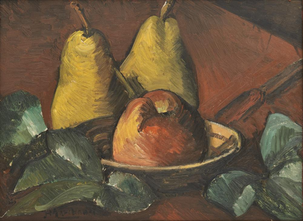 JEAN HIPPOLYTE MARCHAND, (French, 1883-1940), Still Life, oil on board, 9 1/2 x 12 1/2 in., frame: 12 1/2 x 16 in.
