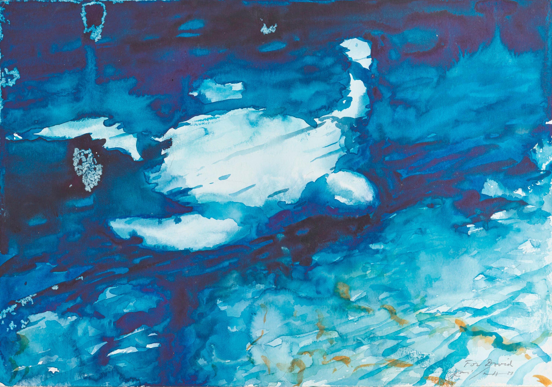 JULIO LARRAZ, (Cuban, b. 1944), Under Water, watercolor, 14 x 20 in.
