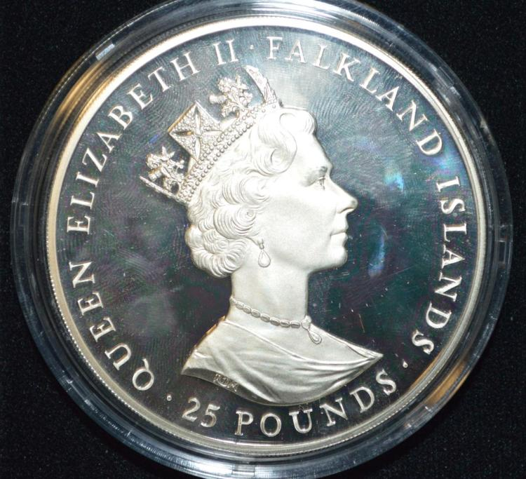 1986 falkland island 25 coin the royal wedding for Gulf coast coin and jewelry